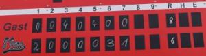 Linescore Spiel 1