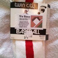 Socken, 2-in-one rot-weiß (neu)